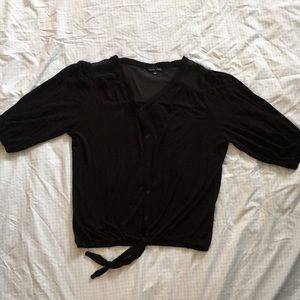 RXB—Button up, 3/4 sleeve, cinched waist with tie